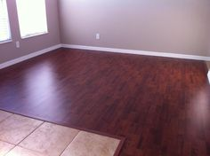 """Royal Mahogany Laminate by Dream Home! """"Upon completion and cleaning up the mess, the end results exceeded my expectation. The finish and overall look was fantastic. Laminate Flooring, Hardwood Floors, Lumber Liquidators, Floating Floor, Sound Proofing, New Home Designs, Real Wood, Tile Floor, Sweet Home"""