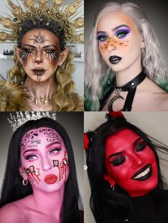 Halloween makeup ideas #halloween #makeupideas #halloweenmakeupideas Halloween Makeup Looks, Halloween Fun, Makeup Ideas, Facepaint Ideas, Halloween Makeup