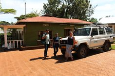 We're gearing up for our 2nd LIVE webcast in Tanzania to discuss the water crisis. It's this Thursday, May 1st from 9:30am-10:30am (EDT). This photo shows our partners Global Nomads Group and Concern Worldwide heading out for a site visit at a school that will host the broadcast! http://studentsrebuild.org/watchtanzania