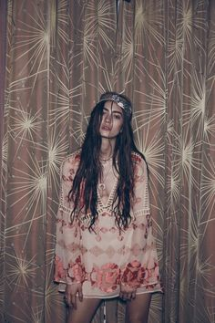 Marine Deleeuw by Zoey Grossman for For Love & Lemons Fall 2015