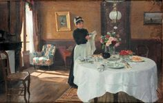 Laying the Table, French Painters: GILBERT Victor-Gabriel