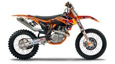 KTM 450SXF Dirt Bike - http://DesireThis.com/174 - KTM's 2013 450SXF is a completely new, significantly lighter engine. Featuring groundbreaking injection technology that guarantees brutal yet controllable power. Packed into a chassis, which has been improved massively in terms of bodywork, frame and suspension, the 2013 KTM 450 SX‑F sets a new benchmark among the 450 four-strokes in terms of performance and maneuverability with its easy handling.
