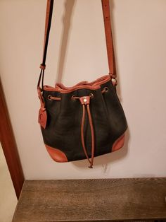 6a8f6ee45781 Extra Off Coupon So Cheap Vintage Authentic Rare Liz Claiborne Drawstring  Bucket Purse Bag Pebble Leather
