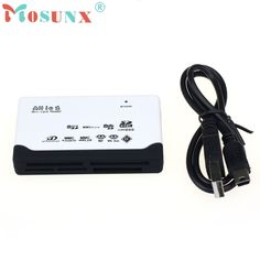 New White USB 2.0 Card Reader for SD XD MMC MS CF SDHC TF Micro SD M2 Adapter Wholesale price Dec18