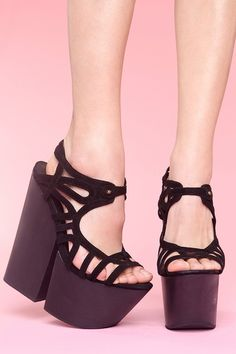 I wish I could walk in these. Jeffrey Campbell, of course.