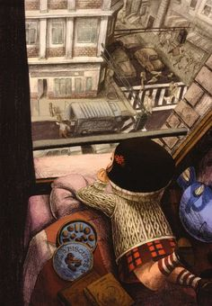 Benjamin Lacombe ..just watching, from your own little world...