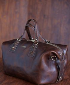 Americana Large Horween Leather Duffel - One Billion Dollars