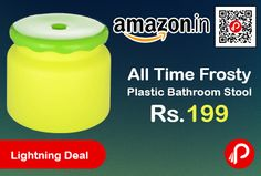Amazon #LightningDeal is offering 20% off on All Time Frosty Plastic Bathroom Stool at Rs.199 Only. Size: 26.4 cm x 26.4 cm x 21.3 cm, Plastic Material. Our bathroom stool are ergonomically designed with a rounded edge surface to ensure comfort and a sturdy body to ensure stability.  http://www.paisebachaoindia.com/all-time-frosty-plastic-bathroom-stool-at-rs-199-only-amazon/