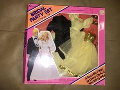 VINTAGE 1984 MERITUS WEDDING PARTY SET BRIDE & GROOM    Dolls & Bears, Dolls, Barbie Contemporary (1973-Now)   eBay!