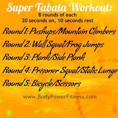Super Tabata Workout #fitness #workouts #tabata