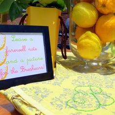 """""""Lemons to Lemonade"""" farewell party inspiration Retirement Parties, Birthday Parties, Themed Parties, Goodbye Party, Going Away Parties, Farewell Parties, Partying Hard, Craft Projects, Project Ideas"""