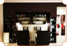 #InteriorDesign #Study #Bookshelf #HomeDecor #Interiors #Design #Style #Luxury