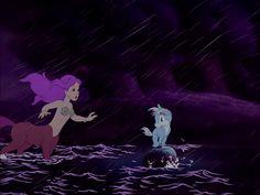Centaurette saves unicorn in storm.