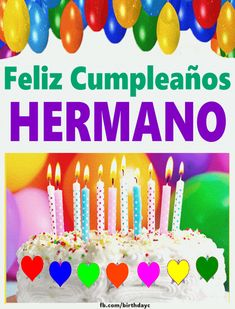 Happy Birthday Wishes Spanish, Happy Birthday Sis, Happy Birthday Pictures, Happy Birthday Messages, Birthday Quotes, Birthday Greetings, Birthday Greeting Cards, Happy Day Quotes, Happy Anniversary Quotes