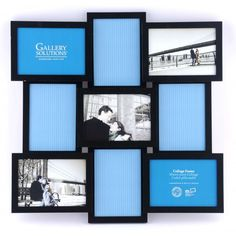 Gallery Solutions Collage Picture Frame - 9 Openings - Black - Cover of diff comedy shot inspirations