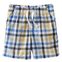 Baby Boy Jumping Beans® Plaid Shorts, Size: 12 Months, Dark Grey