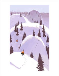 This one always makes me laugh.     Christmas Tree Hunting print, Chris Appelhans