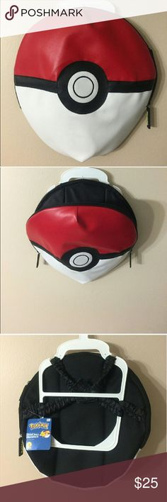POKEMON Backpack NWT!  Made from vinyl,  double zipper for easy opening and elastic straps today Velcro. Pokemon Bags Backpacks