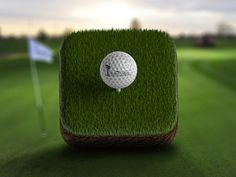 Golf course app icon by Jivaldi