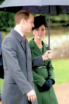 The Duke and Duchess of Cambridge attend a Christmas Day church service at Sandringham // December 25, 2015