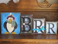 Brrr Mr Penguin Winter Sign Word Blocks by PunkinSeedProduction