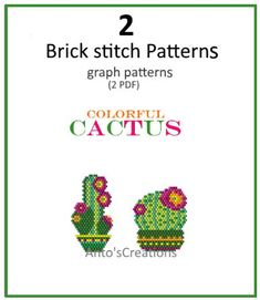 Colorful Mexico Owls set of 6 Brick stitch patterns or Peyote Beading Patterns, Peyote Stitch Patterns, Loom Beading, Pdf Patterns, Bead Weaving, Bead Crafts, Creations, Cross Stitch, Beads