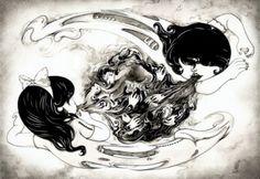 Ilustrações macabras de Yan Wei  http://www.kokomoo.com/
