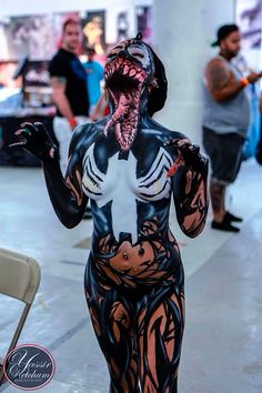 Awesome Lady Venom Full Body Paint