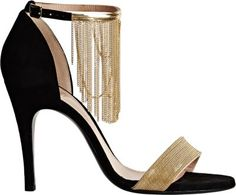 Lanvin Chain-Embellished Ankle-Strap Sandals at Barneys New York