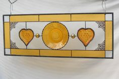 Vintage Stained Glass Plate Panel with Tiara by HeritageDishes, $89.95