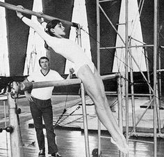 Romania's Nadia Comaneci - a legend. she scored the first 10 in history at the 1976 Montreal Olympics and went on to score another 6 perfect 10s.