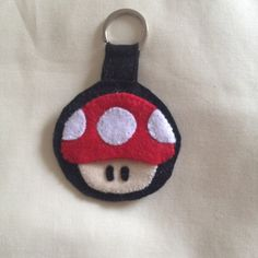 Nintendo Super Mario Bros Red Mushroom Felt by PinkGoblinCreations, £4.99