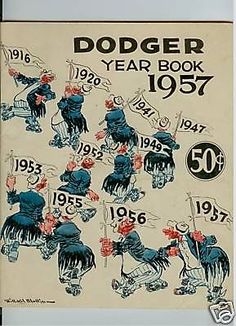 1957 BROOKLYN DODGERS MLB YEARBOOK