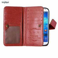 Case For Samsung Galaxy S4 Cover Retro Flip Leather + TPU For Samsung Galaxy S4 Case For Samsung S4 SM-i9500 Phone Wallet ]<
