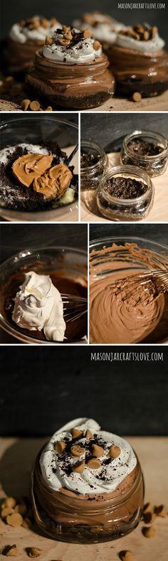 Mousse de Nutella y mantequilla de cacahuete / Nutella Mousse Peanut Butter Cups