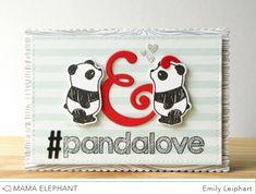 {Mama Elephant} Designer Series: Index Card Creative Cuts Mama Elephant Stamps, Panda Love, Elephant Design, Index Cards, Cute Cards, Altered Art, Scrapbook, Heart, Handmade Cards