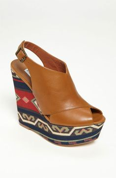 Steve Madden 'Elisaa' Sandal available at Nordstrom love the tribal part but not sure about the shoe,hmmmmmm