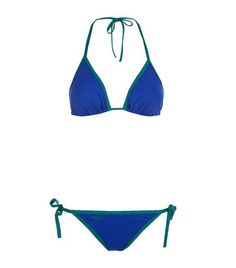 FENDI Contrast Trim Triangle Bikini. #fendi #cloth #