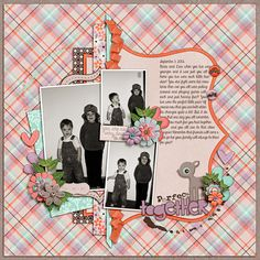Digital Scrapbook Layout by Elizabeth | My Darling Dearest Kit | Bella Gypsy Designs.