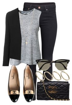 """Sem título #424"" by cecebay ❤ liked on Polyvore featuring H&M, rag & bone, Chanel, Topshop, Minor Obsessions, ASOS and Ray-Ban"