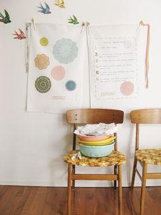 a perfectly peachy pair of dottie angel tea towels. $28.00, via Etsy.