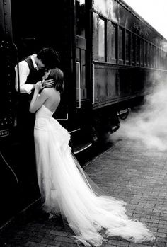 So romantic ~ love the black and white