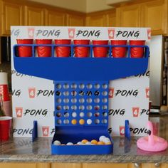 Watch what happens when you combine beer pong and connect 🏓🍻 Redneck Party, Drunk Party, Drinking Games, Beer Pong, Backyard Games, What Happens When You, Game Night, Party Stuff, Party Games