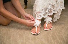 Bridal flats - comfy and cute!
