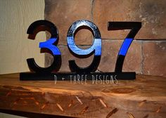 Police Officer Thin Blue Line Wooden Badge Number Decor Policeman thin blue line wood badge number d Police Retirement Party, Police Party, Retirement Parties, Cop Party, Retirement Celebration, Retirement Ideas, Retirement Gifts, Police Officer Gifts, Police Wife