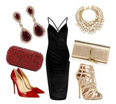 """Untitled #59"" by nadira-i ❤ liked on Polyvore featuring Christian Louboutin, Steve Madden, Yves Saint Laurent, Alice + Olivia, Kate Spade and Effy Jewelry"