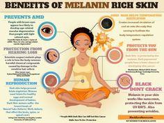 Benefits of Melanin Rich Skin via @