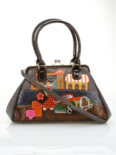 8ca57ee74788 Cali Girl Clip Large Boston Bag in Black With unique designs and funky  details