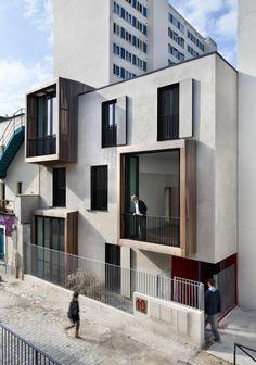 Moussafir Architects: Tetris, social housing and artist studio in Paris