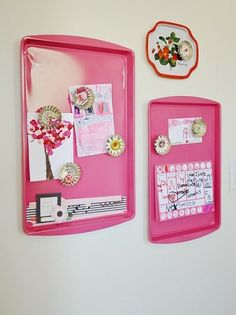 Totally cute idea for my worn out cookie sheets!